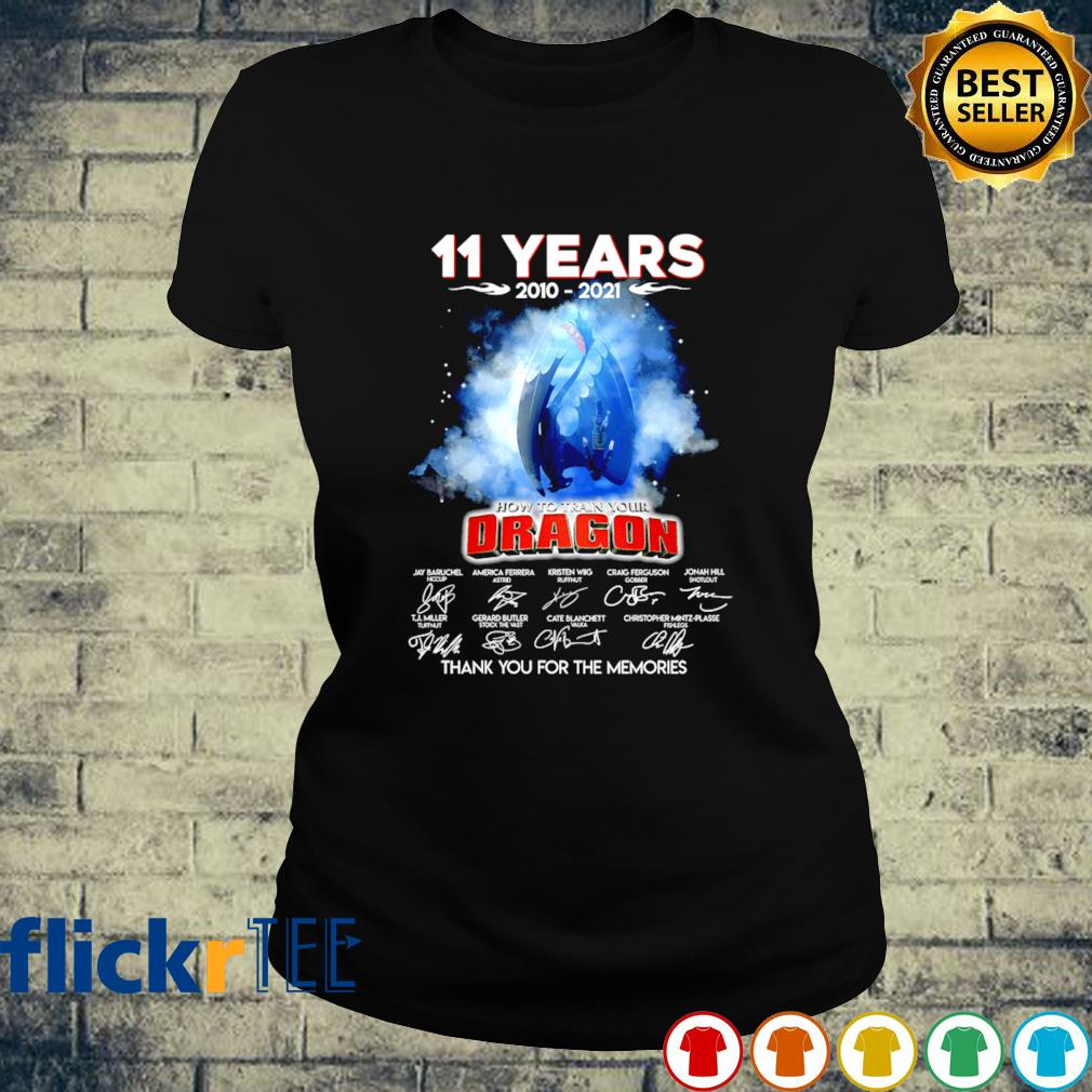 11 years of How To Train Your Dragon 2010 2021 s ladies-tee