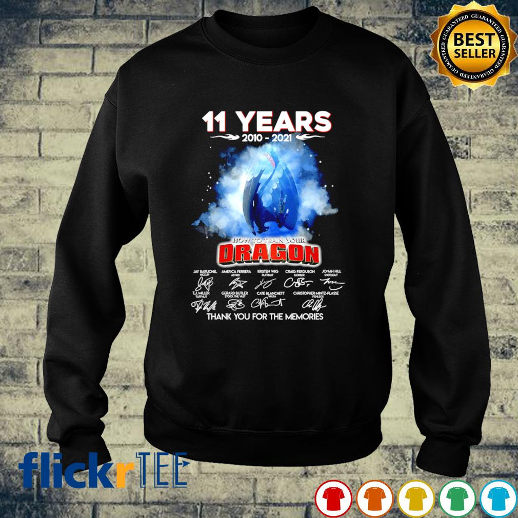 11 years of How To Train Your Dragon 2010 2021 s sweater