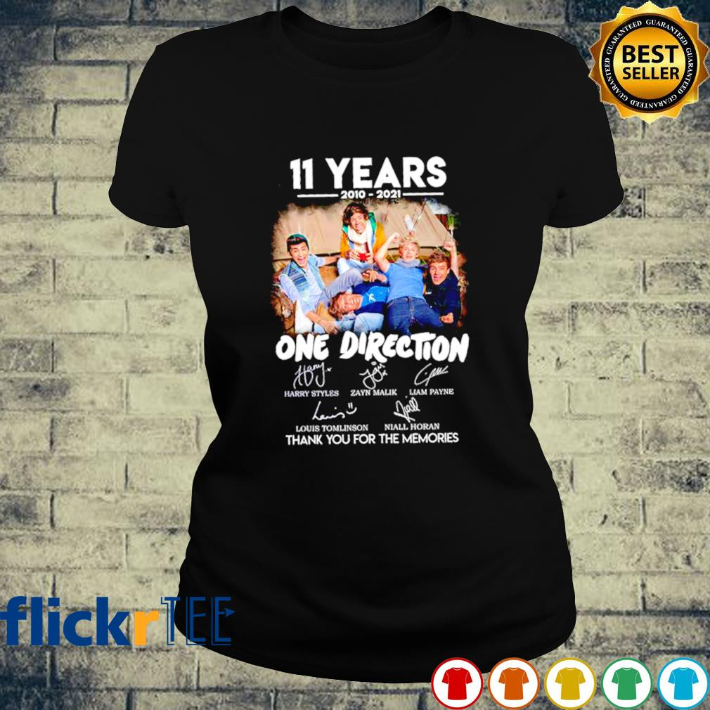 11 years of One Direction 2010 2021 thank you for the memories s ladies-tee
