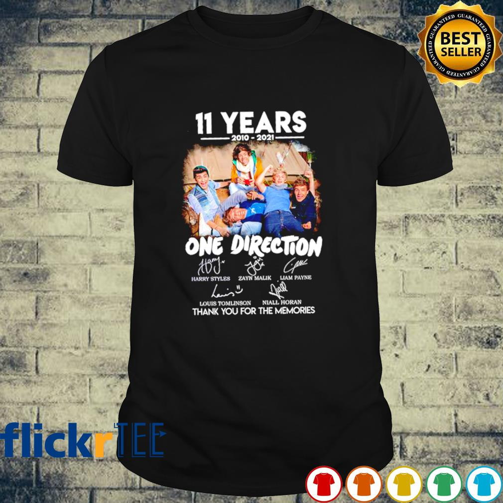 11 years of One Direction 2010 2021 thank you for the memories shirt