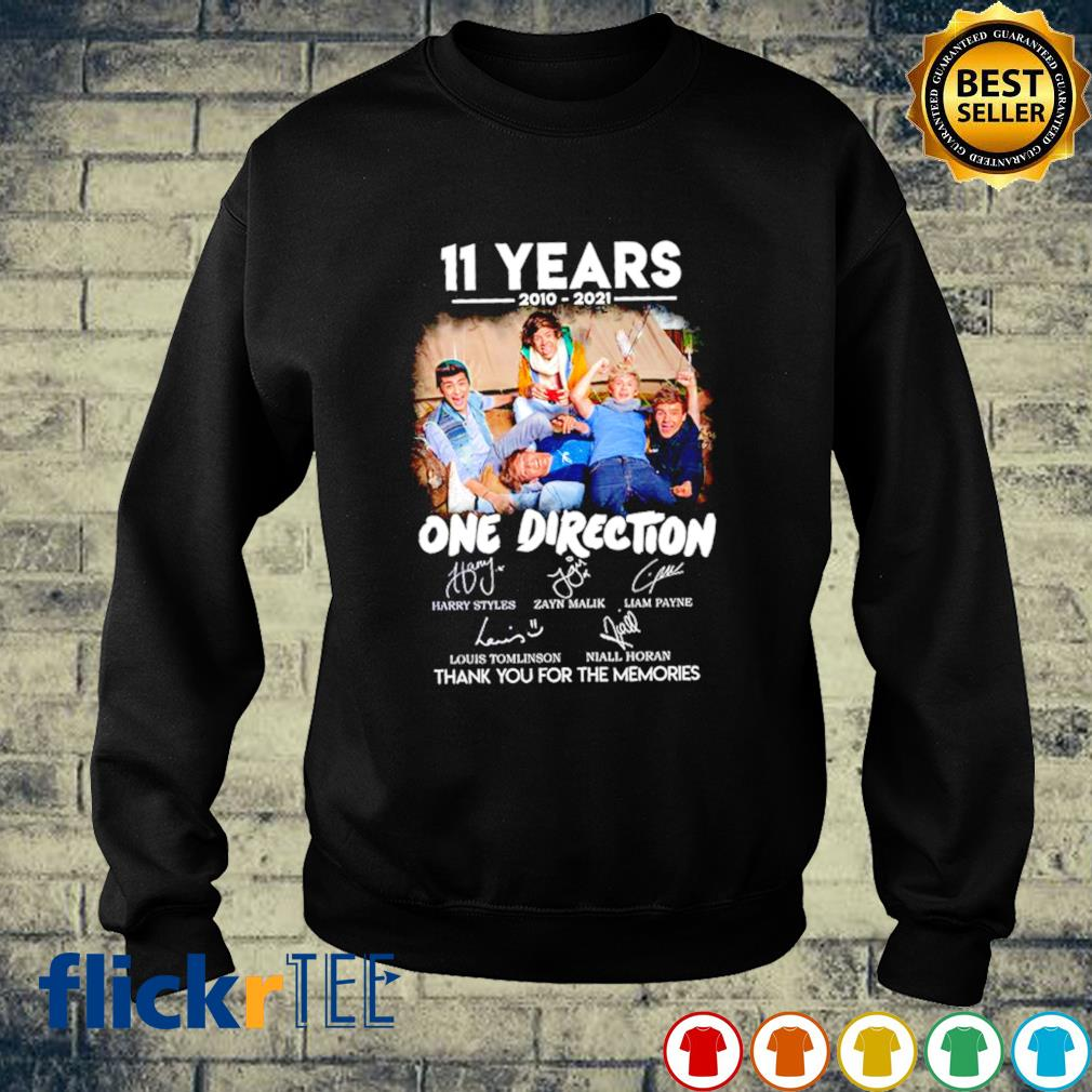11 years of One Direction 2010 2021 thank you for the memories s sweater