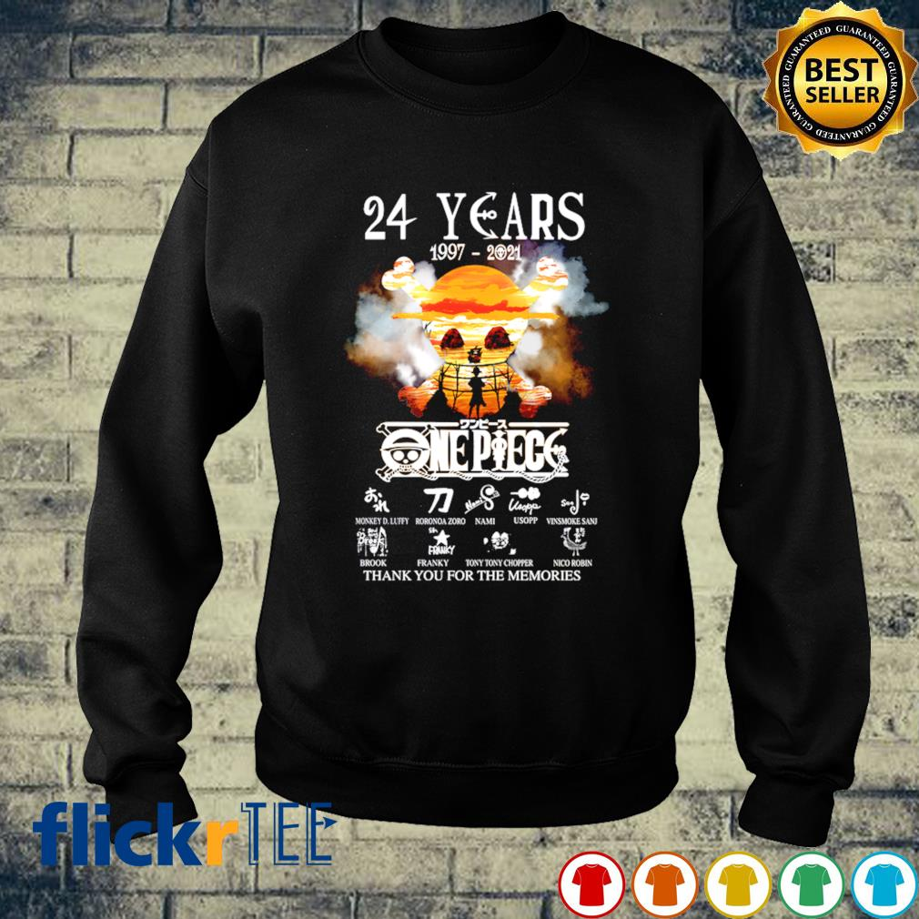 24 years of One Piece 1997 2021 thank you for the memories s sweater