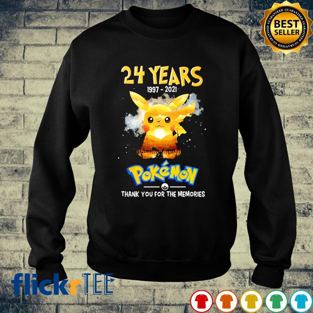 24 years of Pokemon 1997 2021 thank you for the memories s sweater