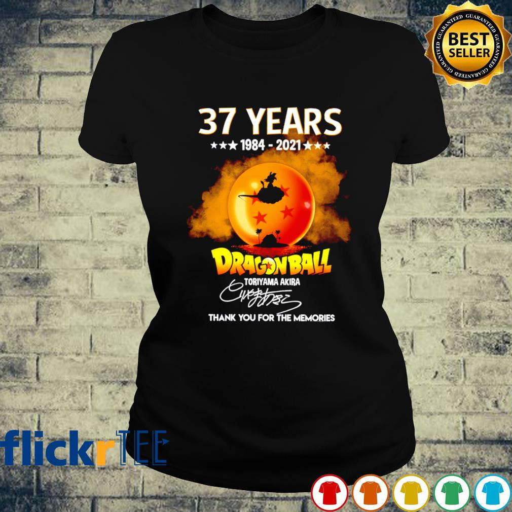 37 years of Dragon Ball 1984 2021 thank you for the memories s ladies-tee