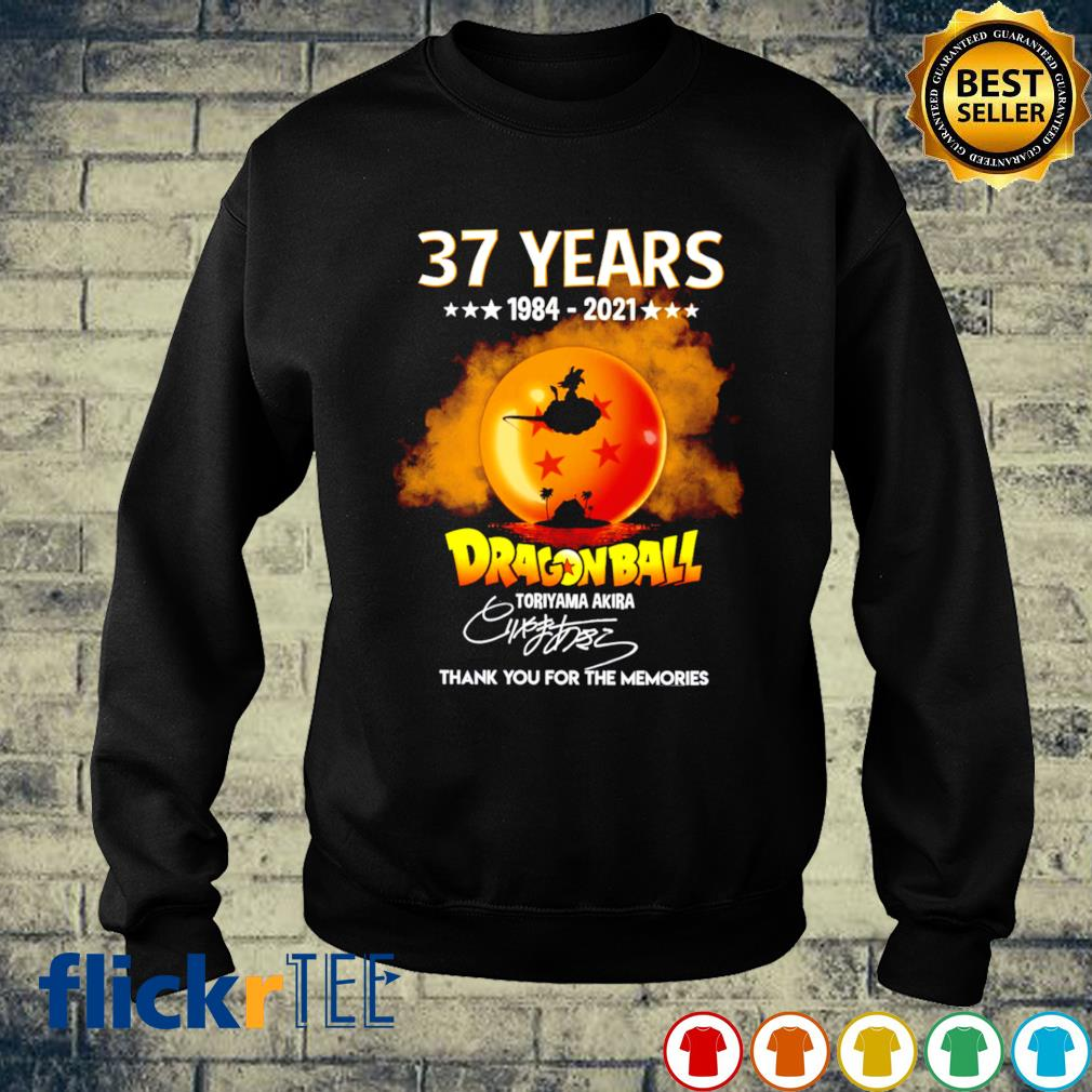 37 years of Dragon Ball 1984 2021 thank you for the memories s sweater