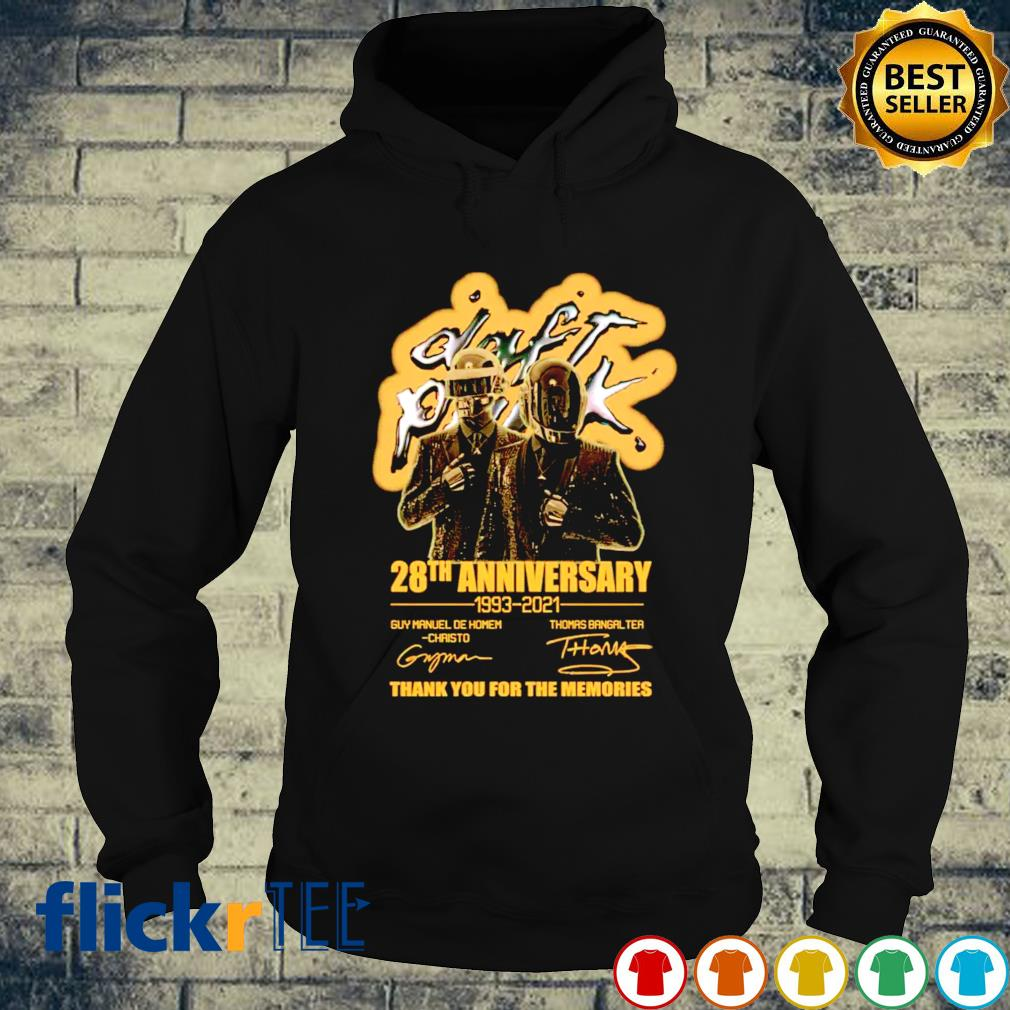 Daft Punk 28th Anniversary 1993 2021 thank you for the memories s hoodie