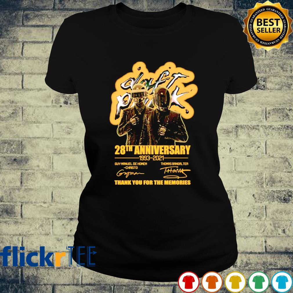 Daft Punk 28th Anniversary 1993 2021 thank you for the memories s ladies-tee