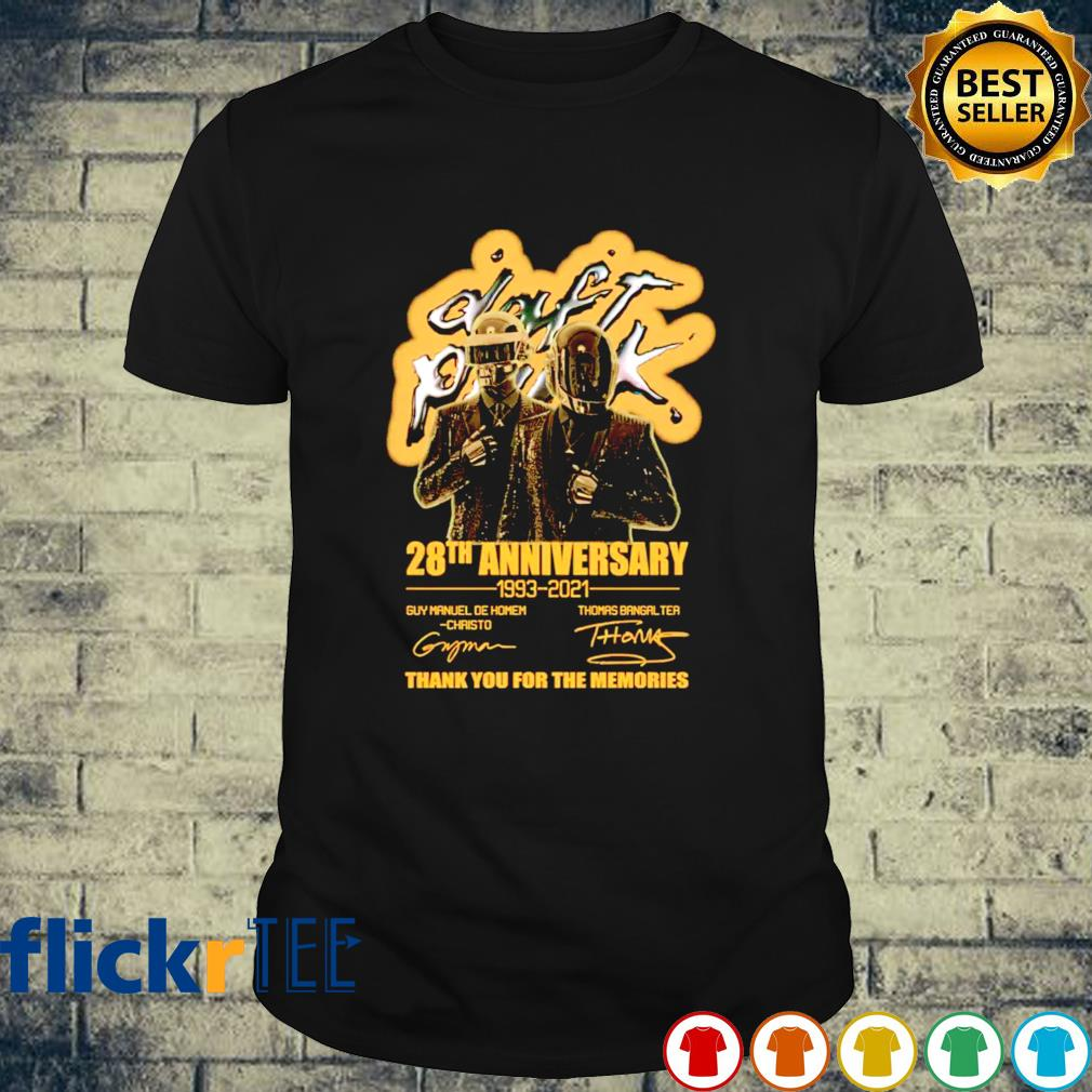 Daft Punk 28th Anniversary 1993 2021 thank you for the memories shirt