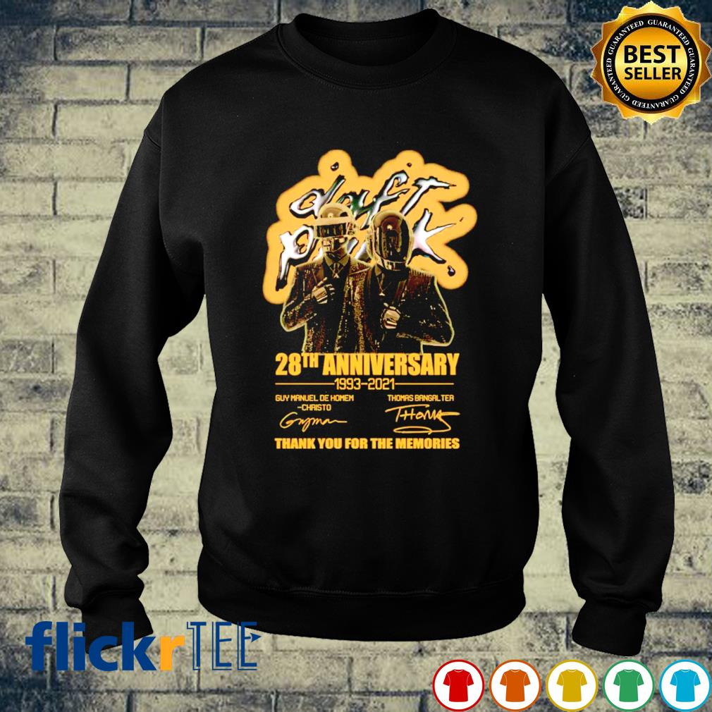 Daft Punk 28th Anniversary 1993 2021 thank you for the memories s sweater