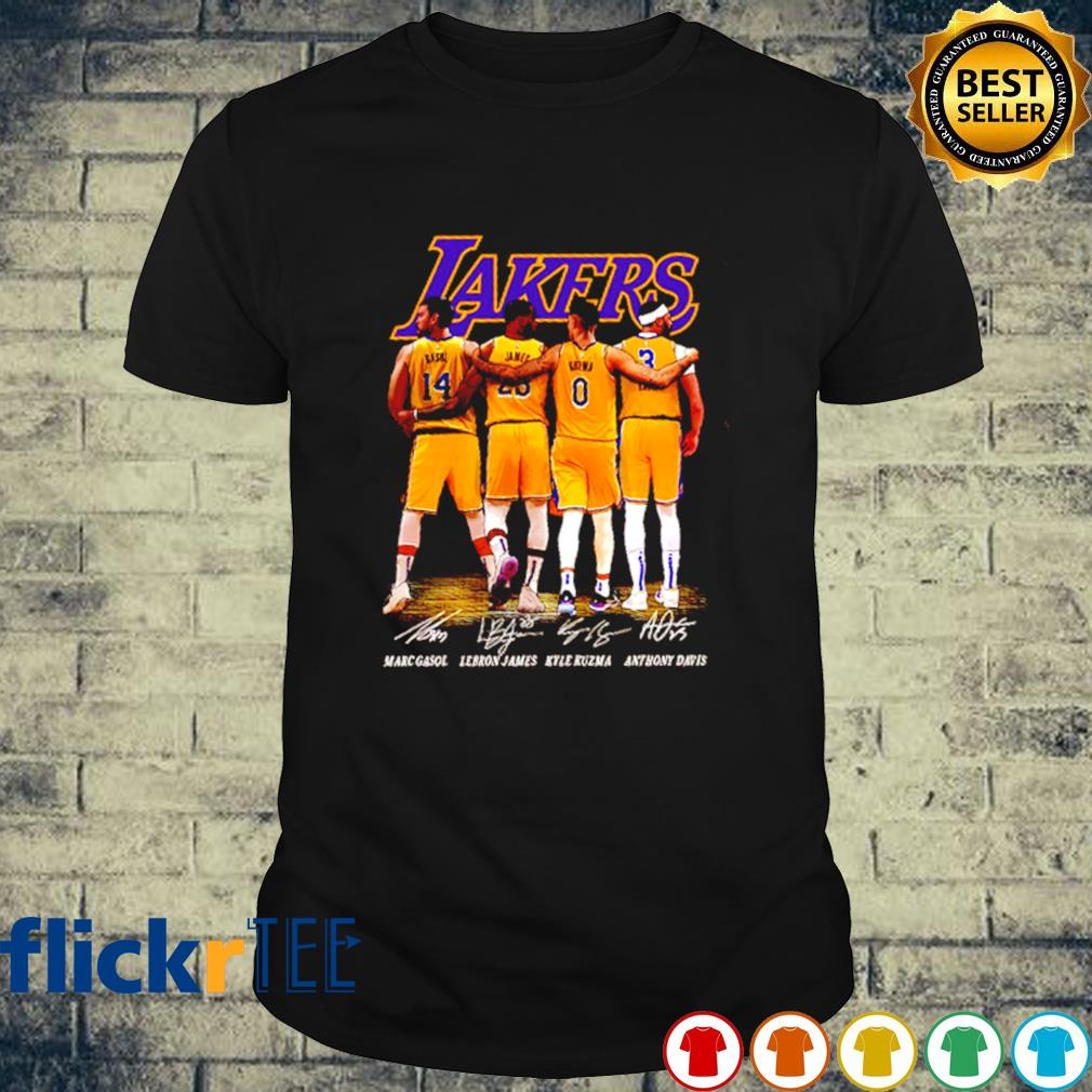 Lakers best players Gasol Lebron James Kuzma and Davis shirt