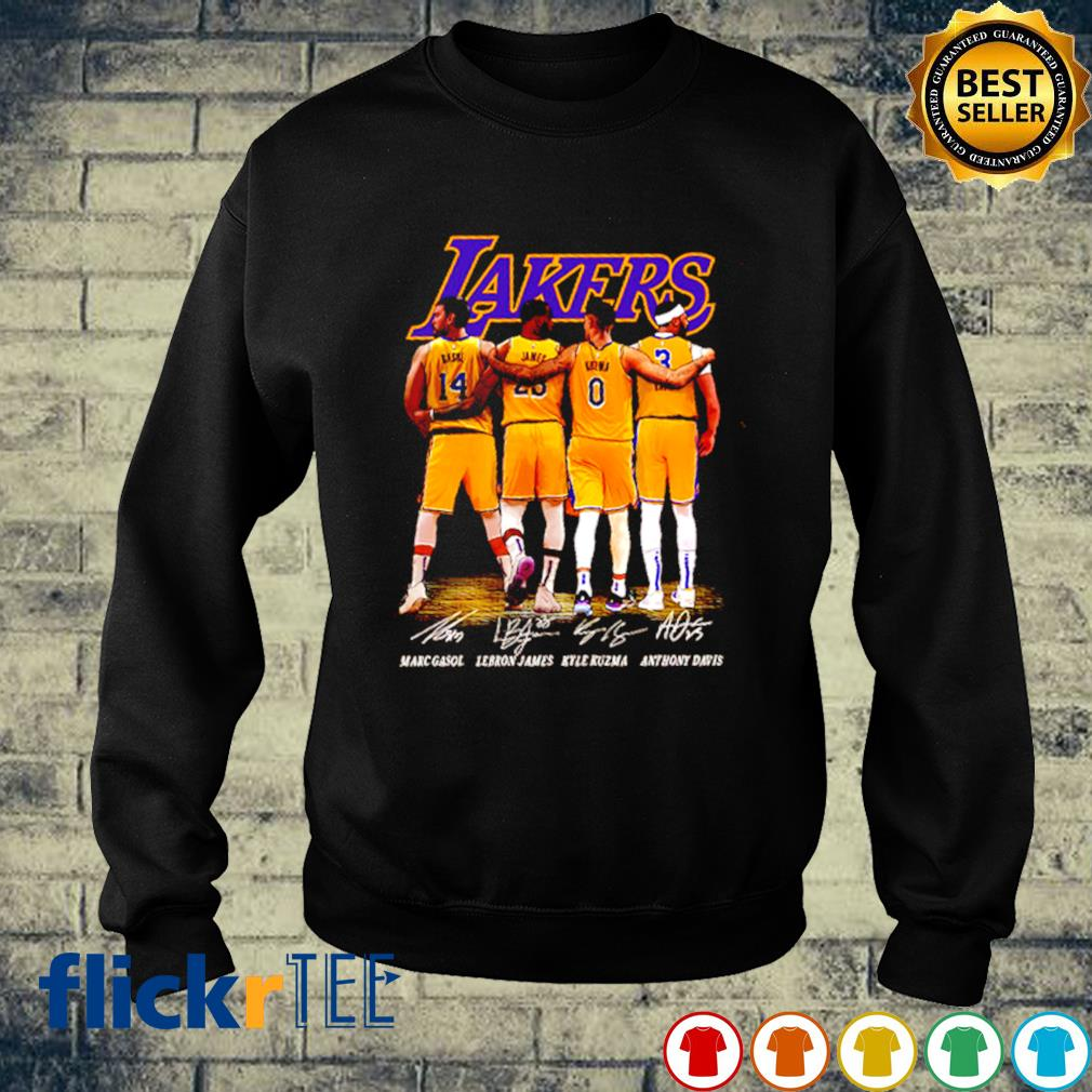 Lakers best players Gasol Lebron James Kuzma and Davis s sweater
