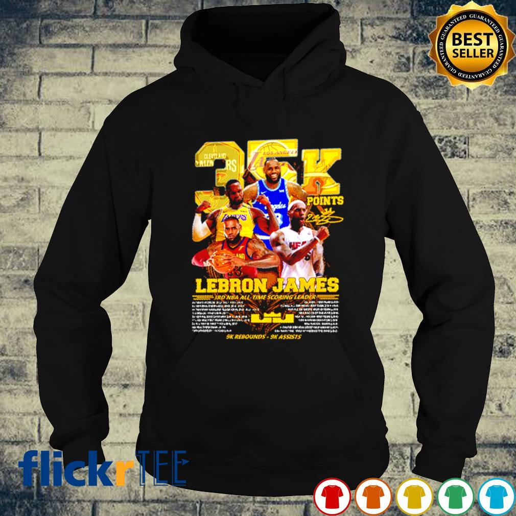Lebron James 35K points JRD NBA all time scoring leader s hoodie