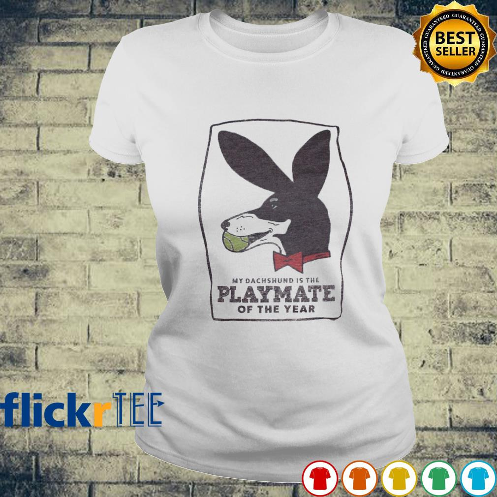 My Dachshund is the playmate of the year s ladies-tee