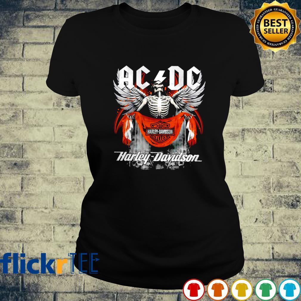 Skeleton ACDC Harley Davidson s ladies-tee