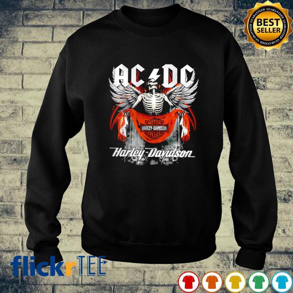 Skeleton ACDC Harley Davidson s sweater
