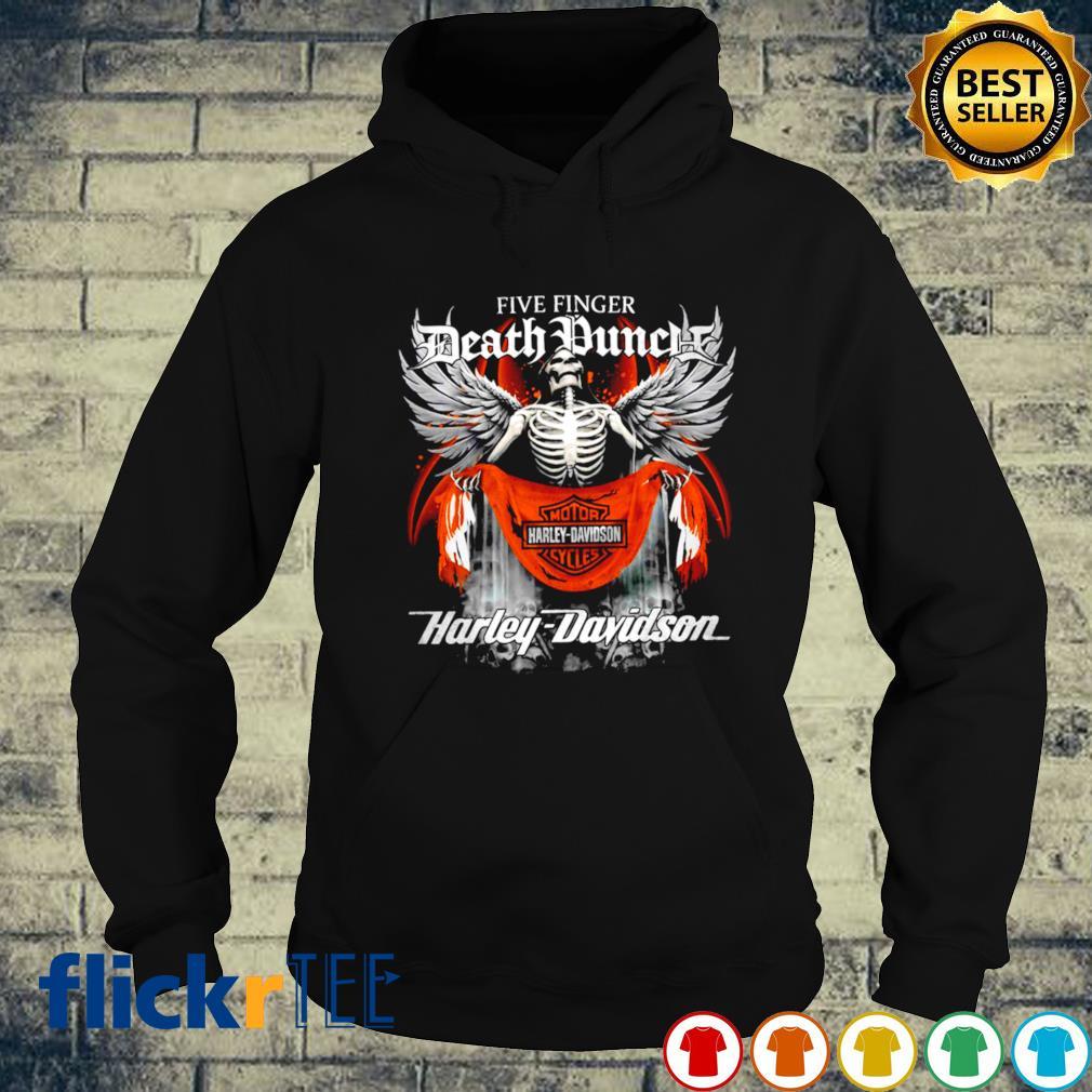 Skeleton Five Finger Death Punch Harley Davidson s hoodie