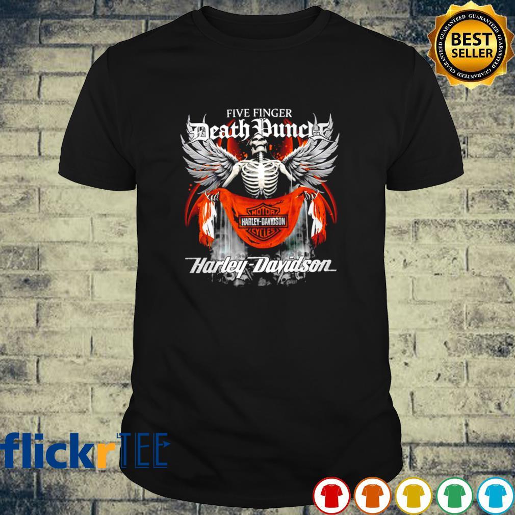 Skeleton Five Finger Death Punch Harley Davidson shirt