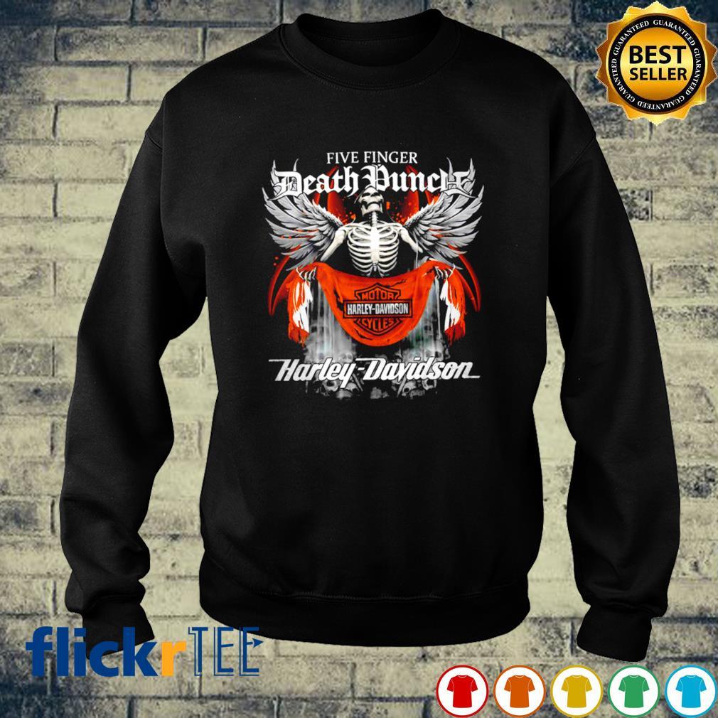 Skeleton Five Finger Death Punch Harley Davidson s sweater