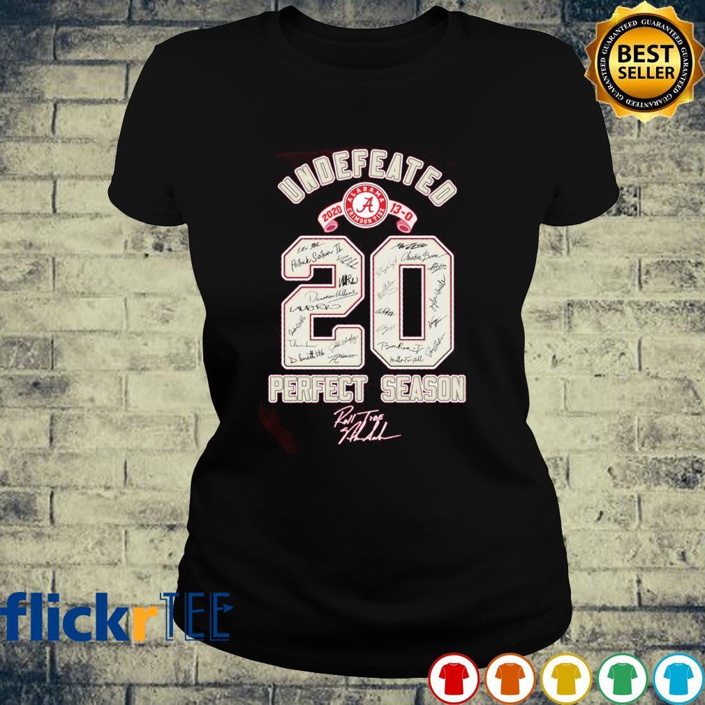 Undefeated 2020 perfect season s ladies-tee