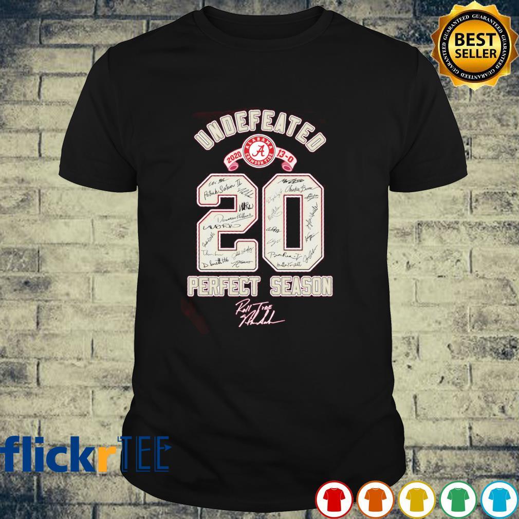 Undefeated 2020 perfect season shirt