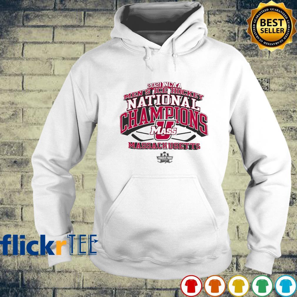 2021 NCAA Men's Ice Hockey National champion UMass Massachusetts Frozen Four s hoodie