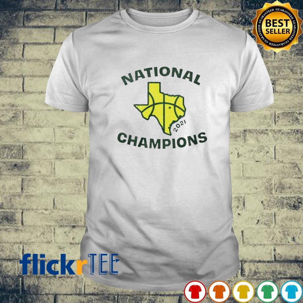 National champions 2021 Texas flag map basketball shirt