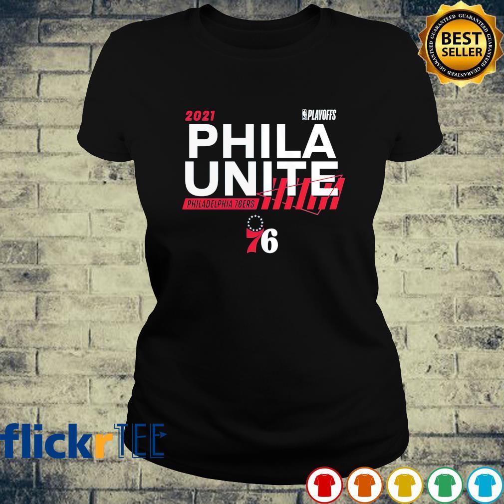 2021 NBA Playoffs Phila Unite Philadelphia 76ers s ladies-tee