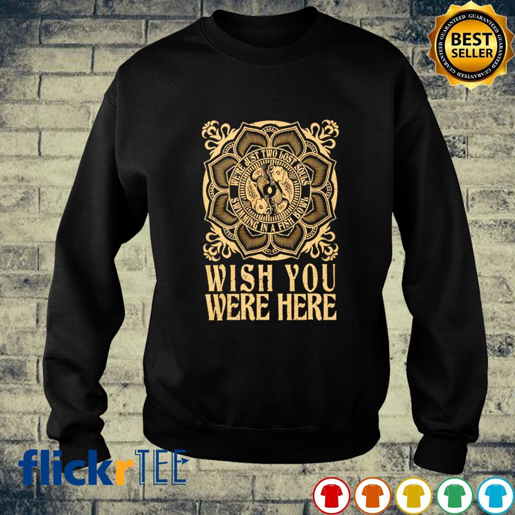 Wish you were here we're just two lost souls sweater