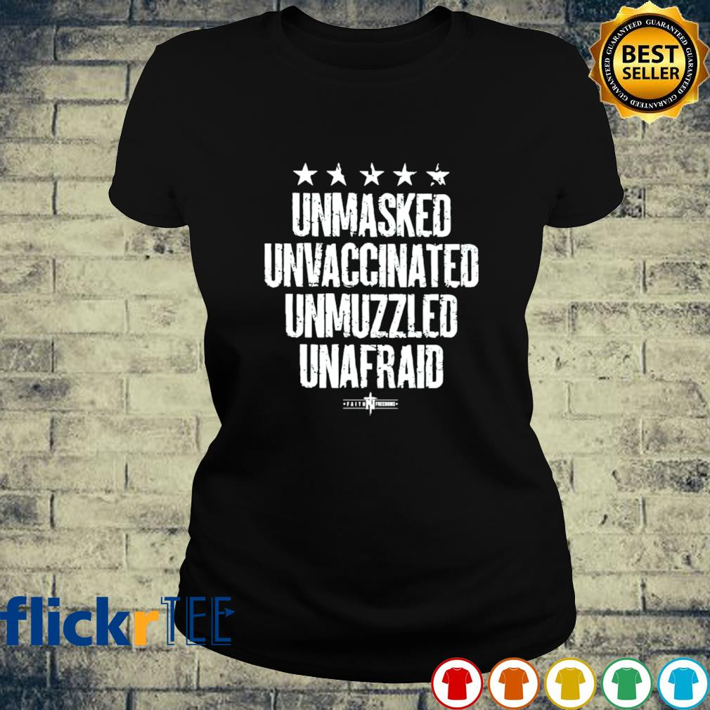 Unmasked Unmuzzled ladies-tee