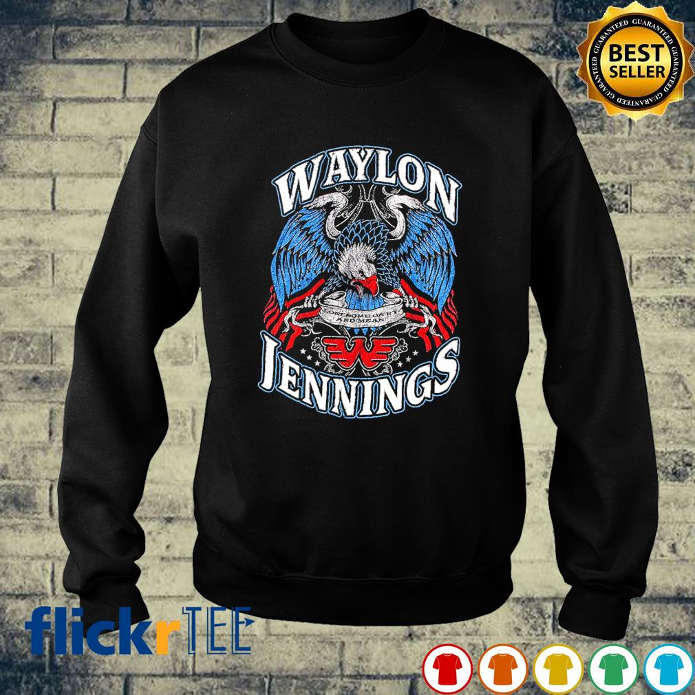 Waylon Jennings Lonesome On'ry and Mean sweater