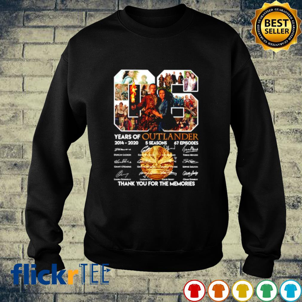 06 years of Outlander 2014 2020 thank you for the memories s sweater