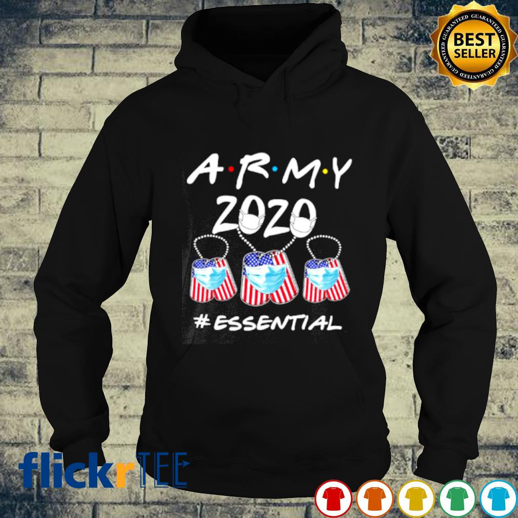 Army 2020 facemask essential Covid-19 s hoodie