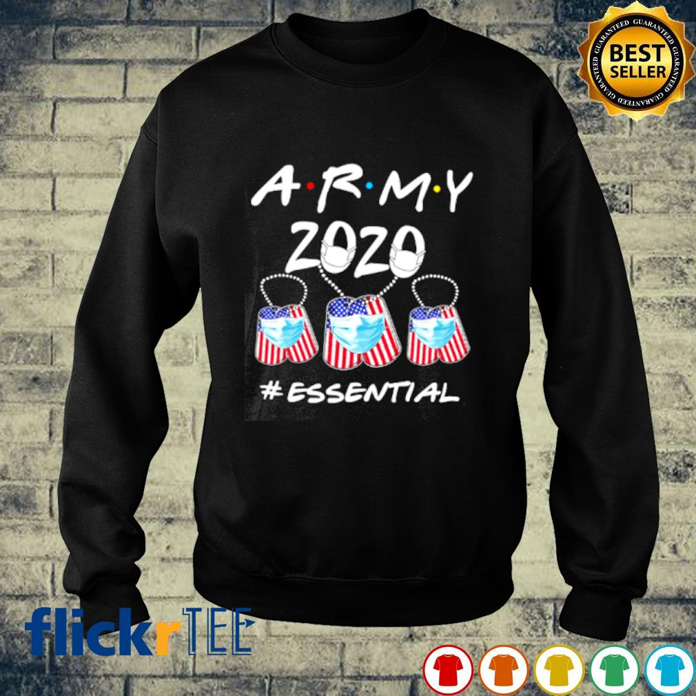 Army 2020 facemask essential Covid-19 s sweater
