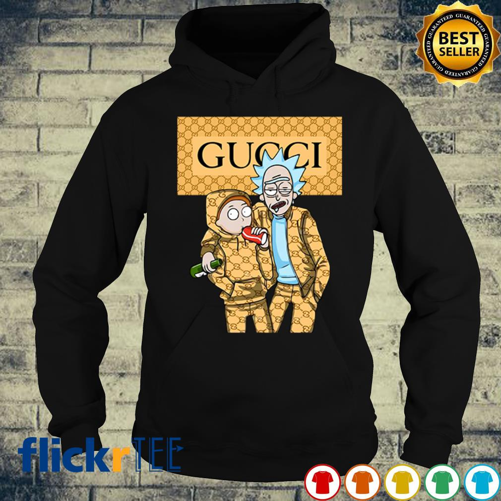 Rick and Morty wearing Gucci s hoodie