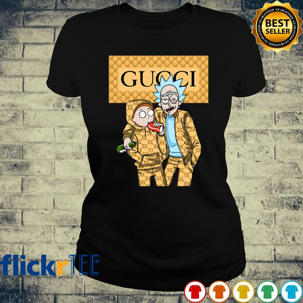 Rick and Morty wearing Gucci s ladies-tee