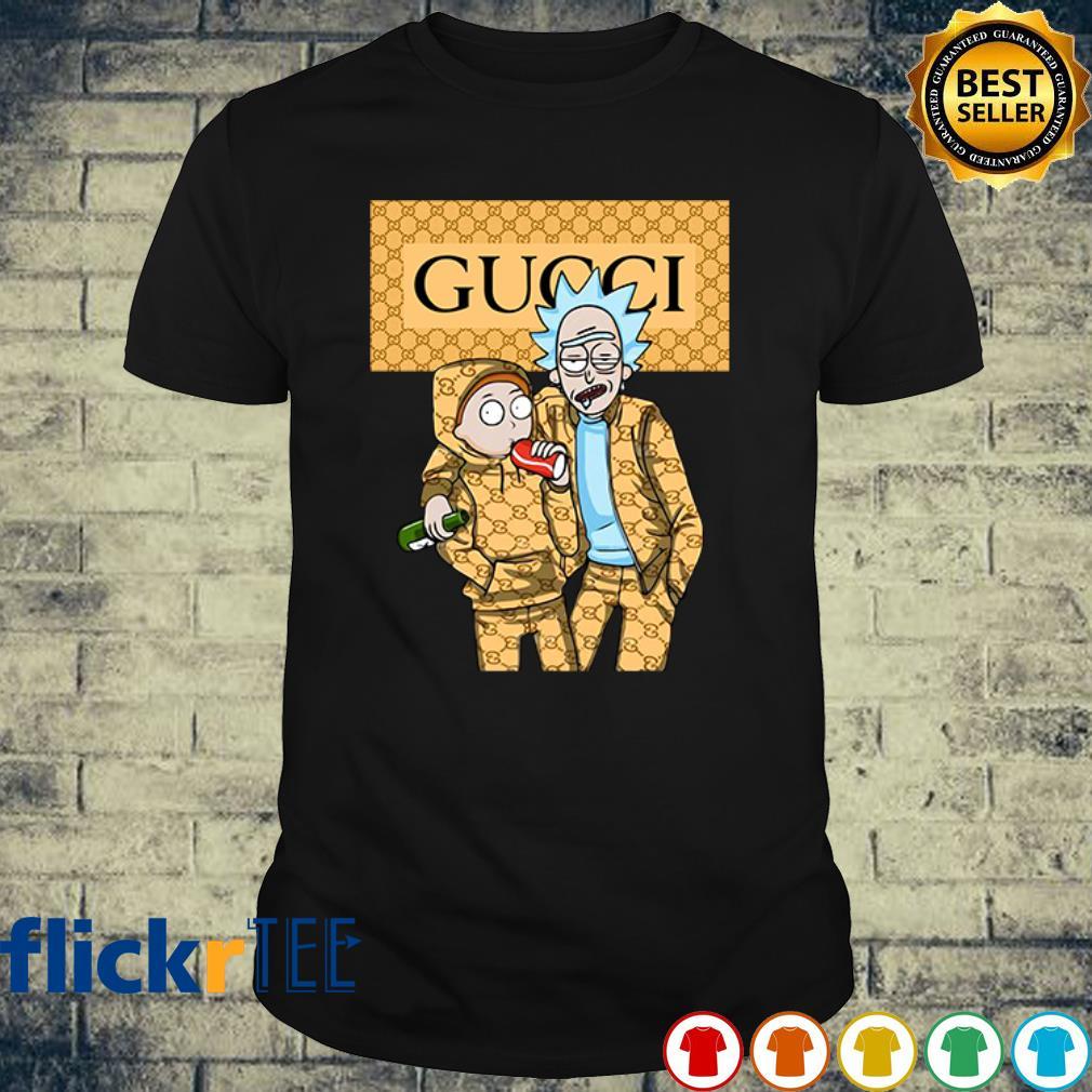 Rick and Morty wearing Gucci shirt