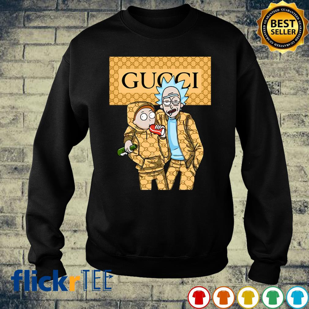 Rick and Morty wearing Gucci s sweater
