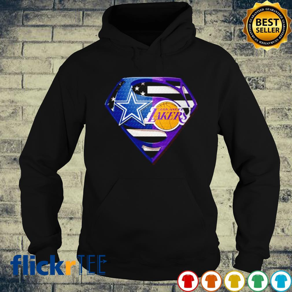 Superman Dallas Cowboys and Los Angeles Lakers s hoodie
