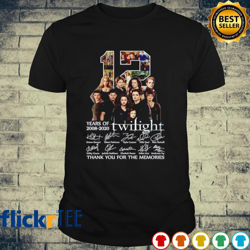 12 years of Twilight 2008 2020 thank you for the memories shirt
