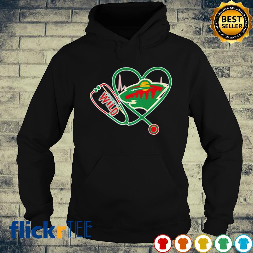Heartbeat Nurse love Minnesota Wild s hoodie