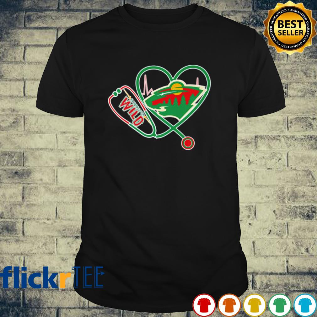 Heartbeat Nurse love Minnesota Wild shirt