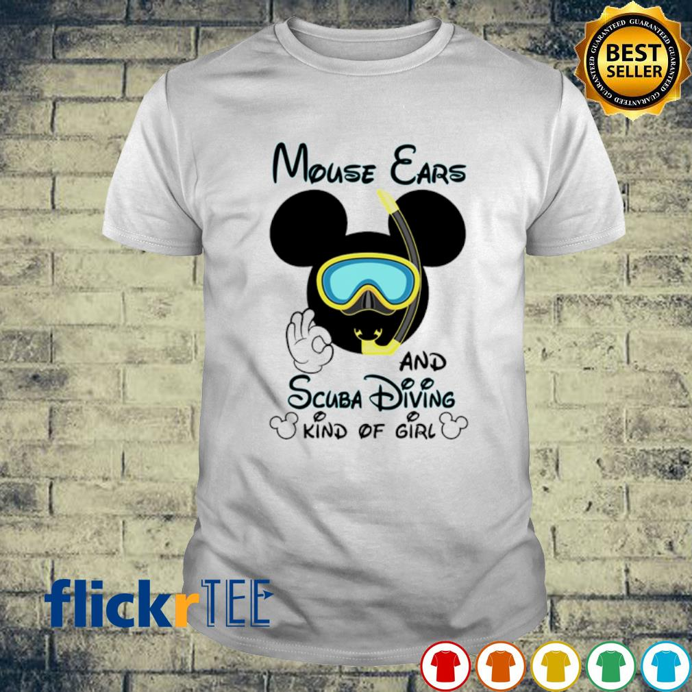Mouse ears and scuba diving kind of girl shirt