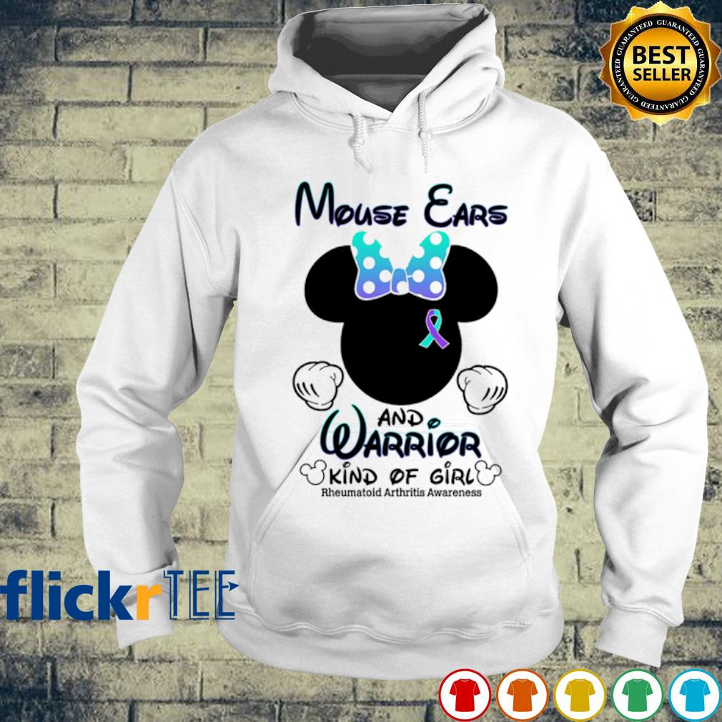 Mouse ears and warrior kind of girl s hoodie