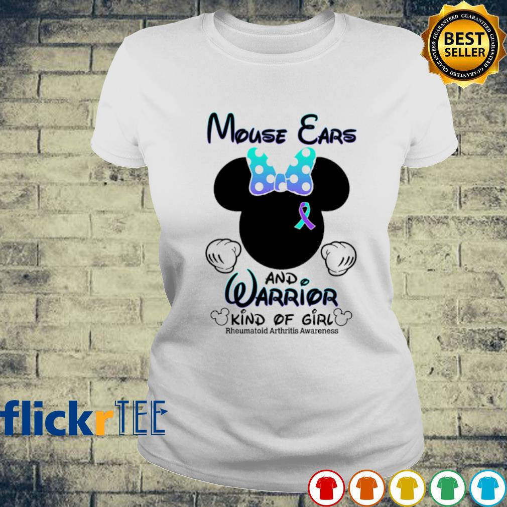 Mouse ears and warrior kind of girl s ladies-tee
