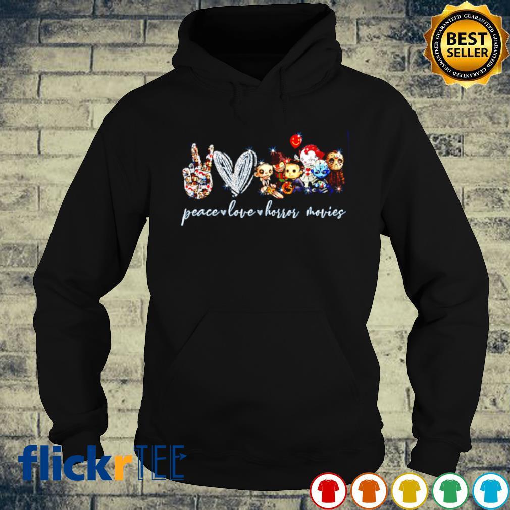 Peace Love Horror movies s hoodie