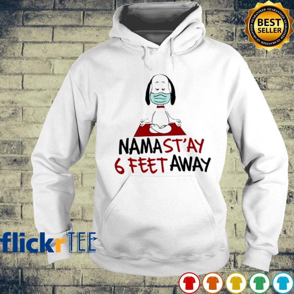 Snoppy facemask namastay 6 feet away s hoodie