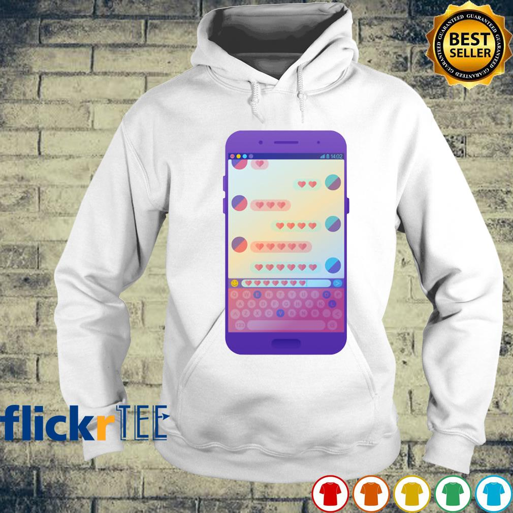 Chat Messenger by heart love s hoodie
