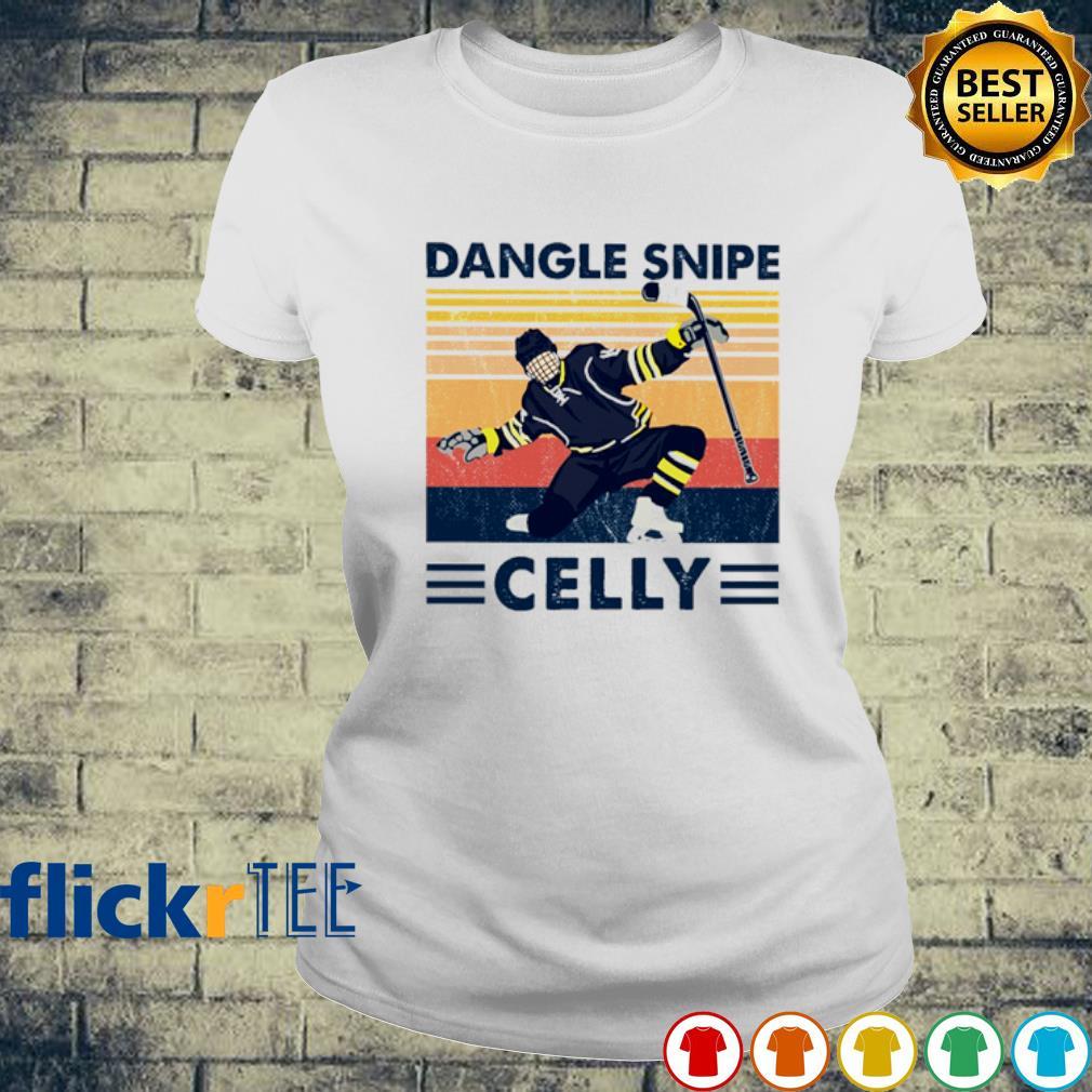 Hockey Dangle Snipe Celly vintage s ladies-tee