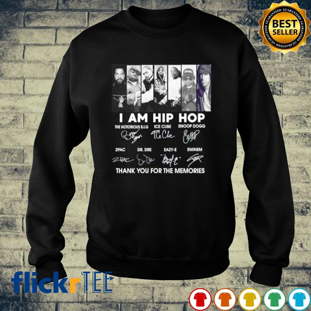 I am Hip Hop The Notorious B.I.G Ice Cube Snoop Dogg signature s sweater