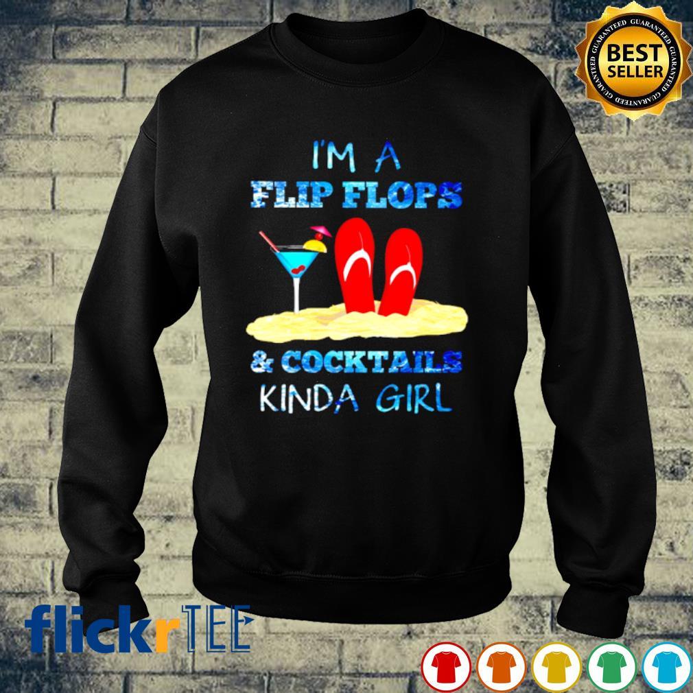 Ocean I'm A Flip Flops And Cocktails kinda girl s sweater